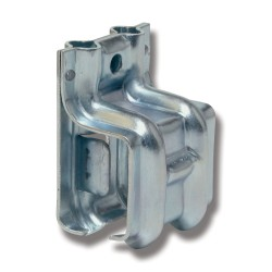 Ändkonsol vä 1/290SV stål för väggmontage