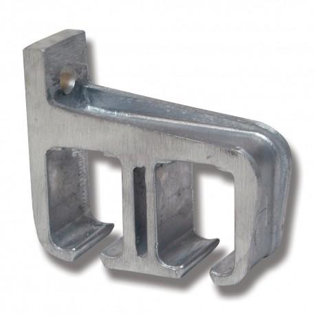 Konsol aluminium 5/290 för dubbla skenor väggmontage
