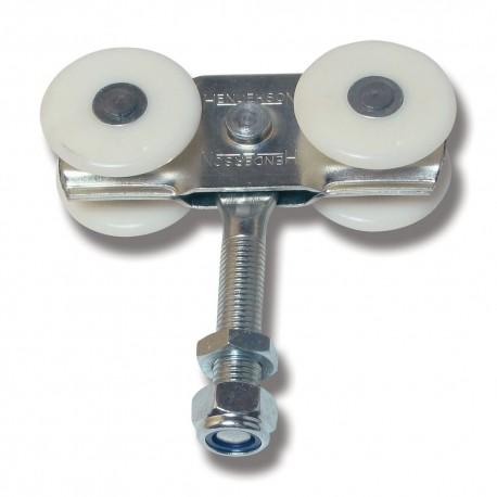 Hängrulle nylonhjul med 70 mm bult 56A/N för metall till 301